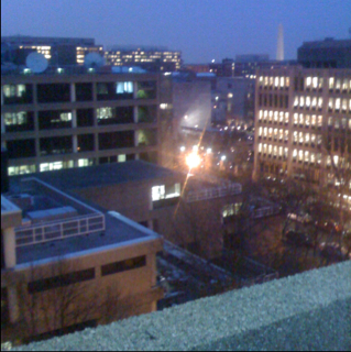 Late night studying at GW